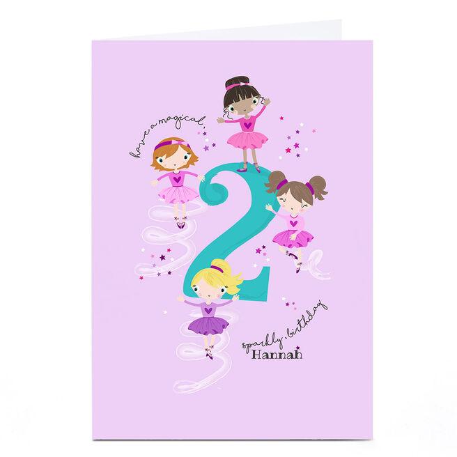 Personalised Rachel Griffin Birthday Card - 2, Sparkly Birthday
