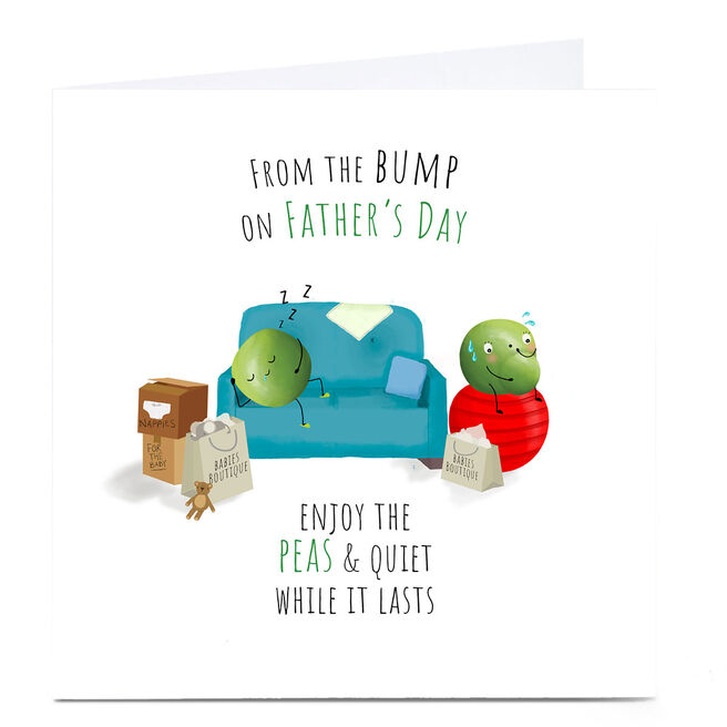 Personalised Father's Day Card - From Bump, Peas & Quiet