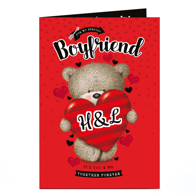 Personalised Hugs Bear Card - Special Boyfriend