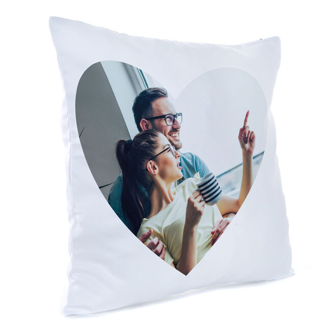 Personalised Photo Cushion - Large Love Heart