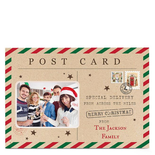 Photo Christmas Card - Postcard