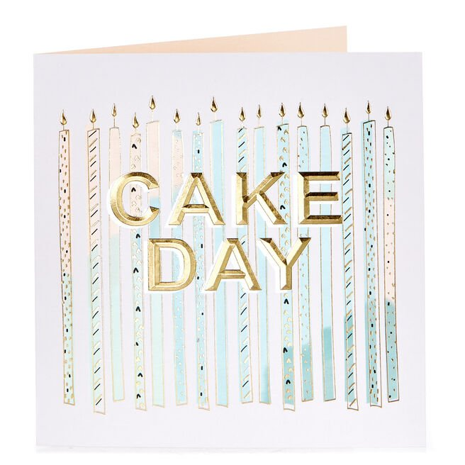 Birthday Card - Cake Day Candles