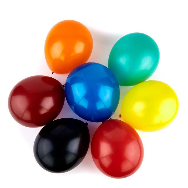 50 Premium Helium-Quality Latex Balloons - Crystal Colours