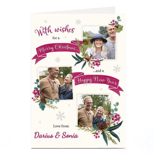 Personalised Christmas Photo Card - Merry Christmas