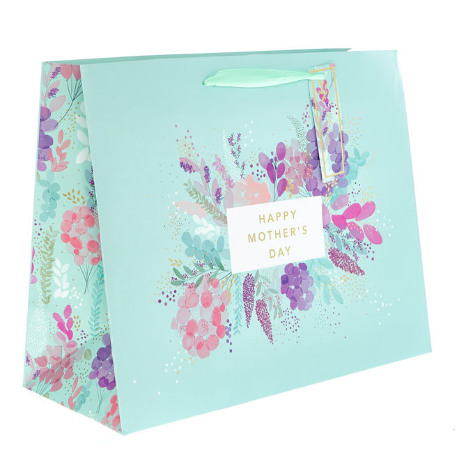 Medium Landscape Floral Mother's Day Gift Bag