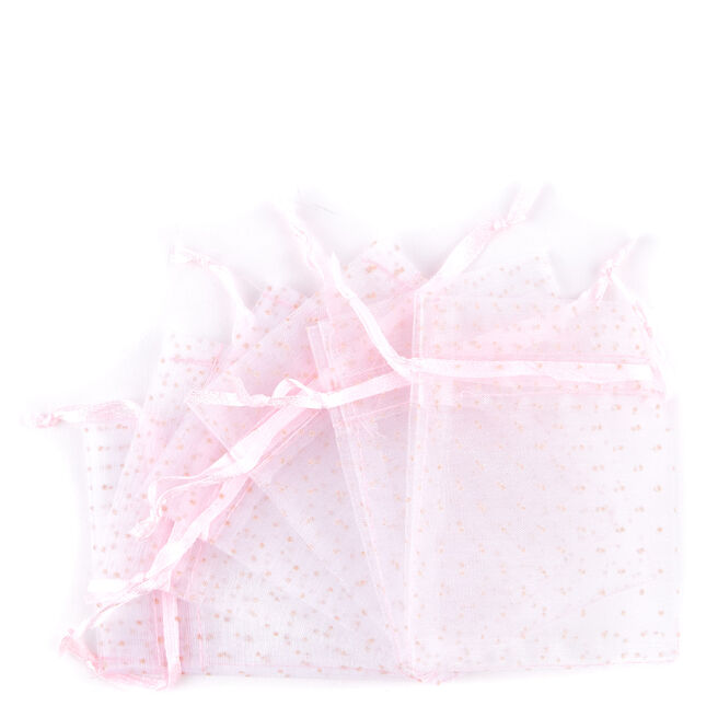 Pink Baby Shower Party Favour Pouches - Pack of 6
