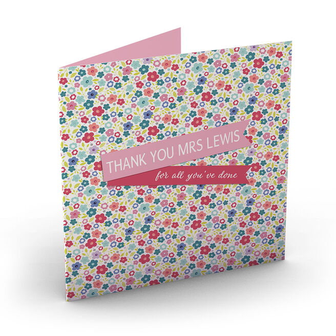 Personalised Thank You Card - For All You've Done
