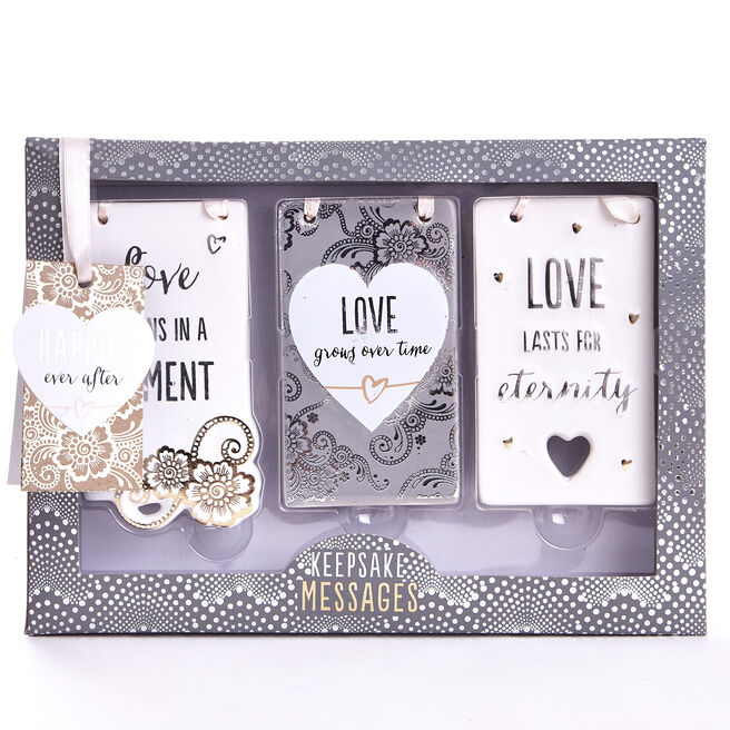 Keepsake Message Ceramic Hanging Plaques