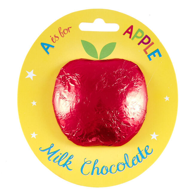 A is for Apple Solid Milk Chocolate