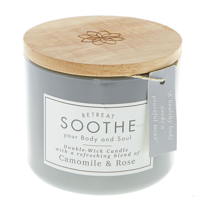 Camomile & Rose Double-Wick Scented Candle