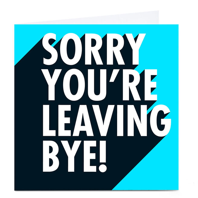 Personalised Hello Munki Card - Sorry You're Leaving!
