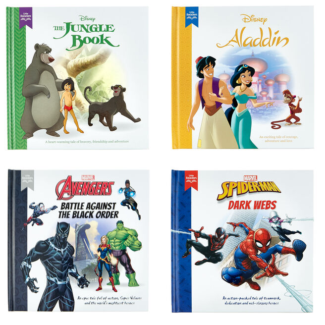 Little Readers Disney Heroes & Favourites Books - Set Of 4
