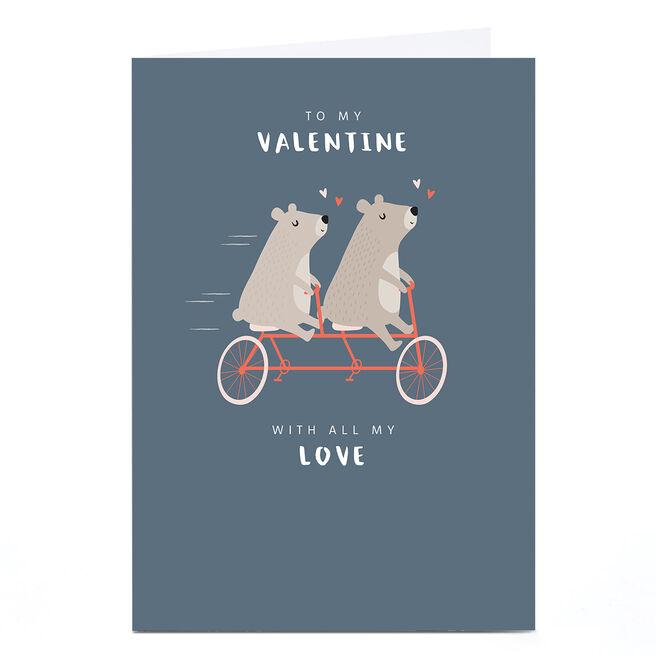 Personalised Klara Hawkins Valentine's Day Card - Tandem Bears