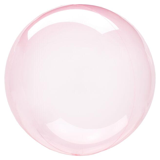 12-Inch Dark Pink Clear Orb-Shaped Helium Balloon