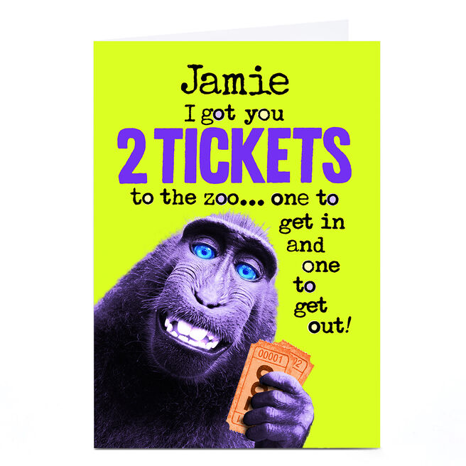 Personalised PG Quips Card - 2 Tickets