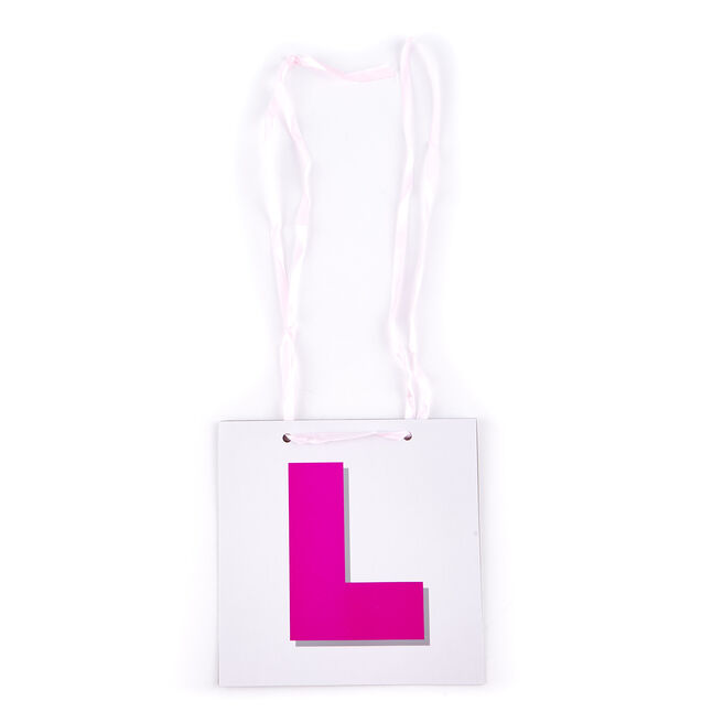 Bride To Be Pink & White L Plate