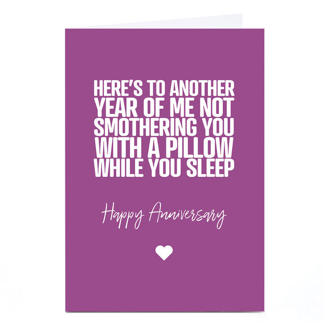 Personalised Punk Anniversary Card - Smothering You