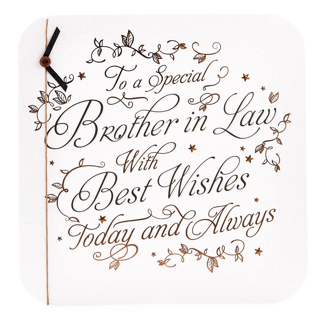 Exquisite Collection Birthday Card - Brother In Law, Best Wishes