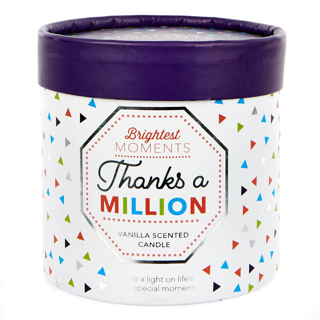 Brightest Moments Vanilla Scented Celebration Candle - Thanks A Million