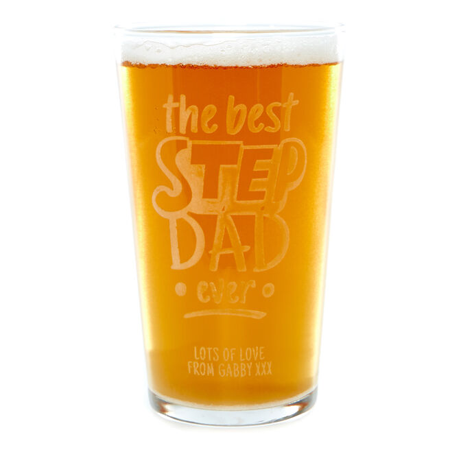 Personalised Pint Glass - The Best Stepdad