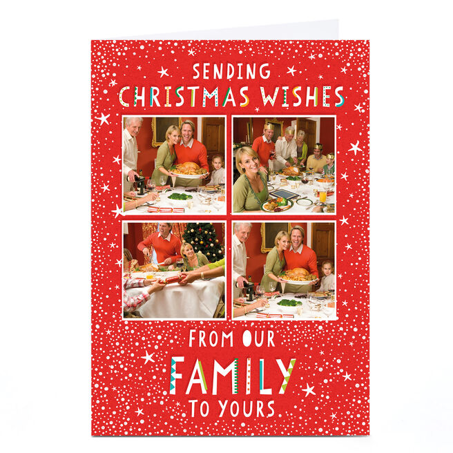 Photo Christmas Card - Christmas Wishes From Our Family To Yours