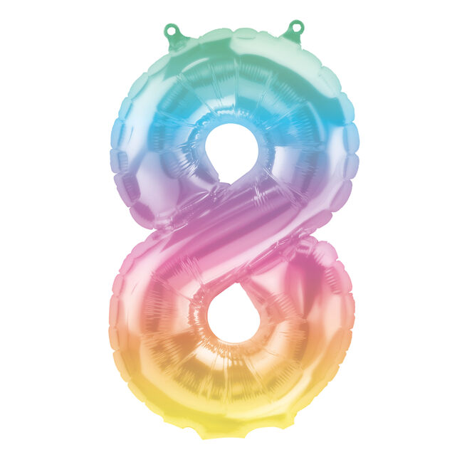 Jeli Ombre Air-Inflated Number 8 Balloon