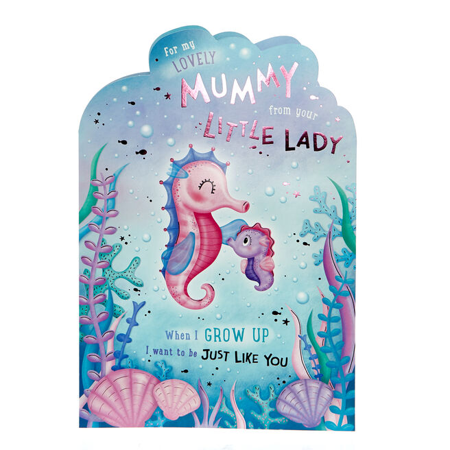 Giant Mother's Day Card - Mummy From Your Little Lady