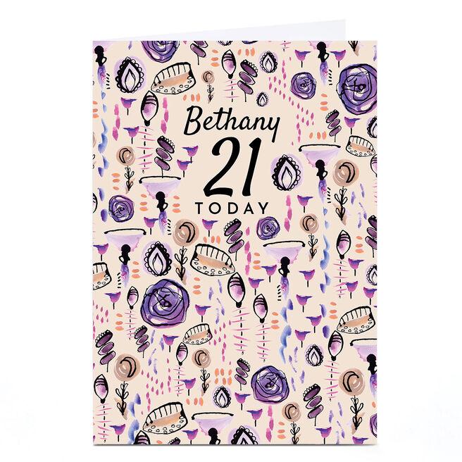 Personalised Rebecca Prinn 21st Birthday Card
