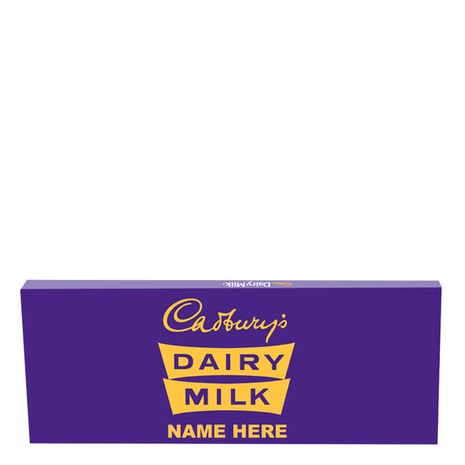 850g Personalised Retro 1960s Cadbury Dairy Milk Bar