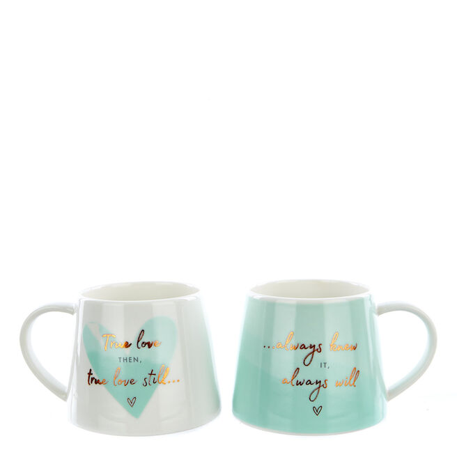 Perfect Together Happy Anniversary Twin Mug Gift Set