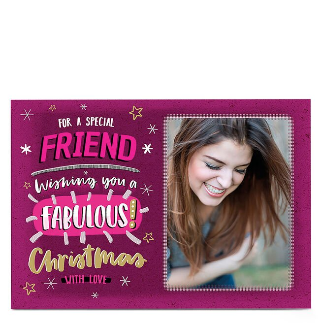 Christmas Photo Card - Fabulous Christmas Friend