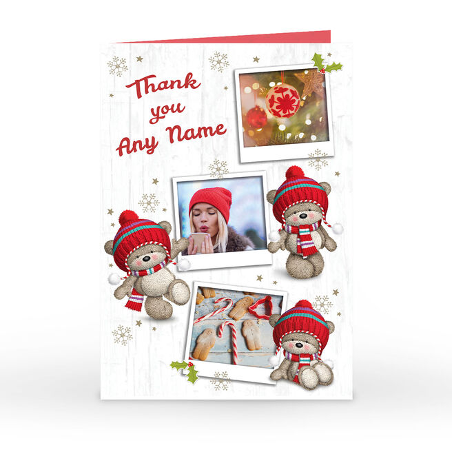 Personalised Christmas Photo Card - Thank You Hugs