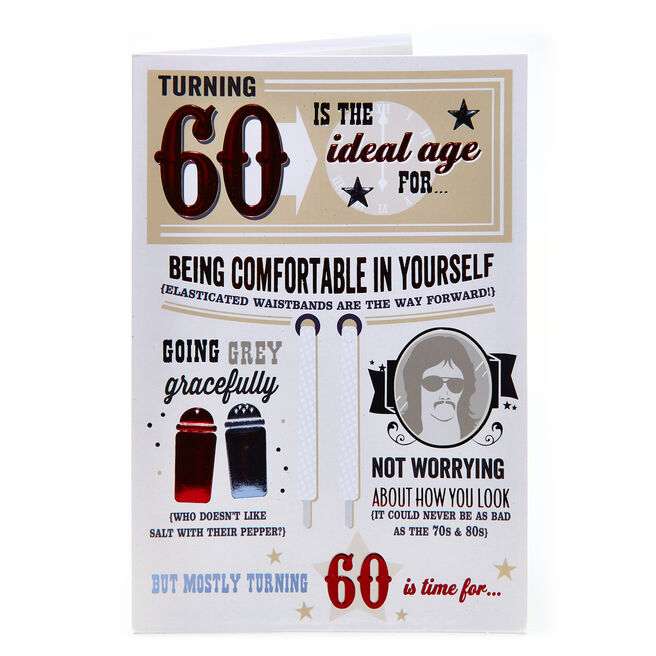 60th Birthday Card - The Ideal Age