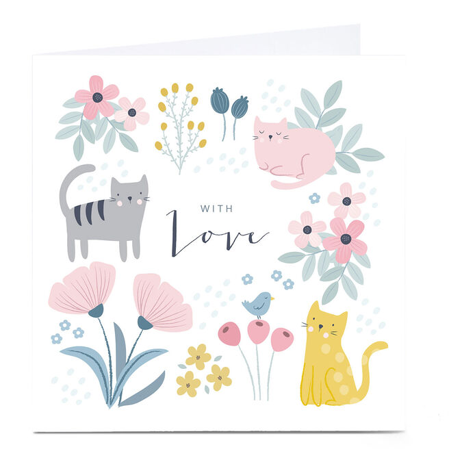 Personalised Klara Hawkins Card - With Love, Cats