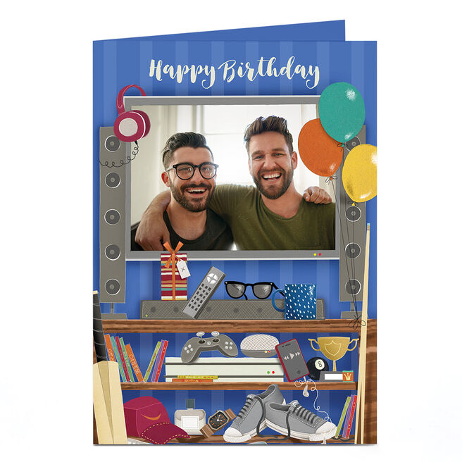 Personalised Photo Card - Birthday Console