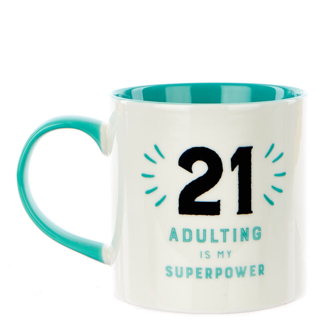 21st Birthday Mug - Adulting Is My Superpower