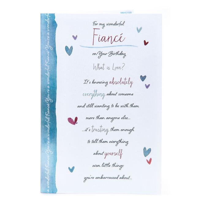 Birthday Card - For My Wonderful Fiance
