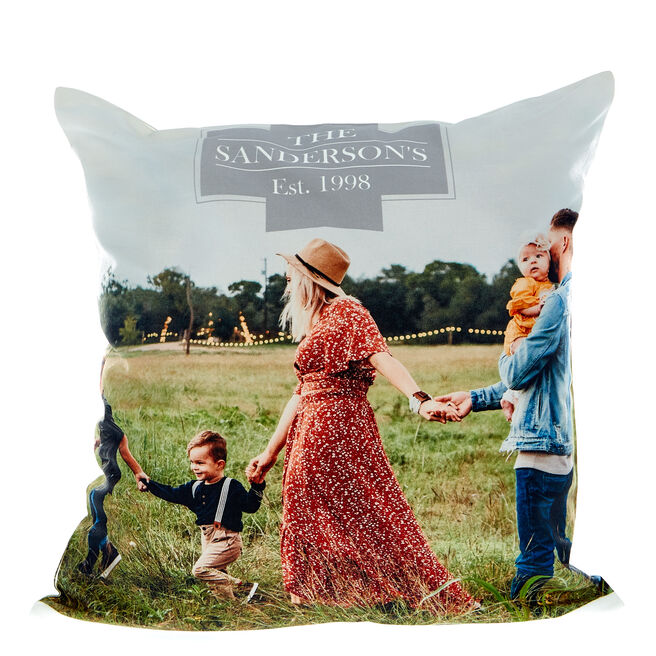 Photo Upload Cushion - Family Photo