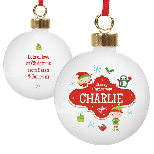 Personalised North Pole Christmas Bauble