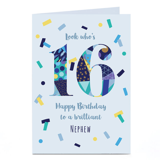 Personalised 16th Birthday Card - Look Who's 16