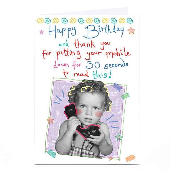 Personalised Quitting Hollywood Birthday Card - Mobile Phone