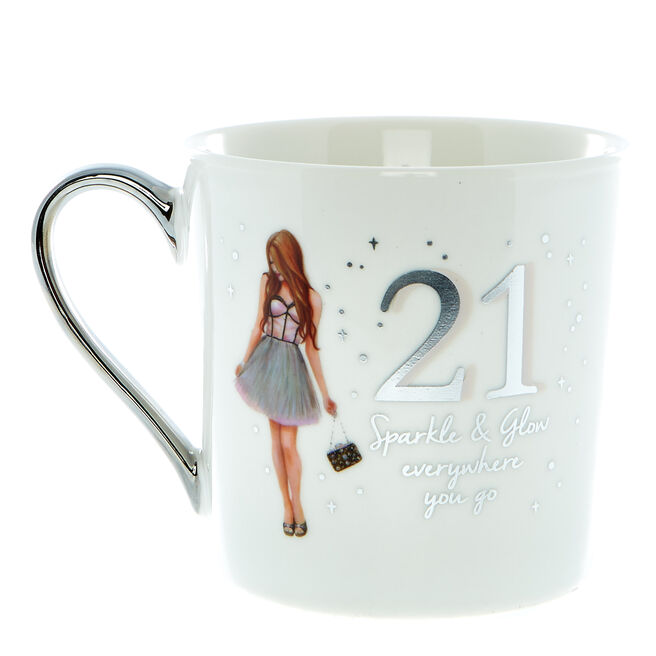 21st Birthday Mug In A Box - Sparkle & Glow