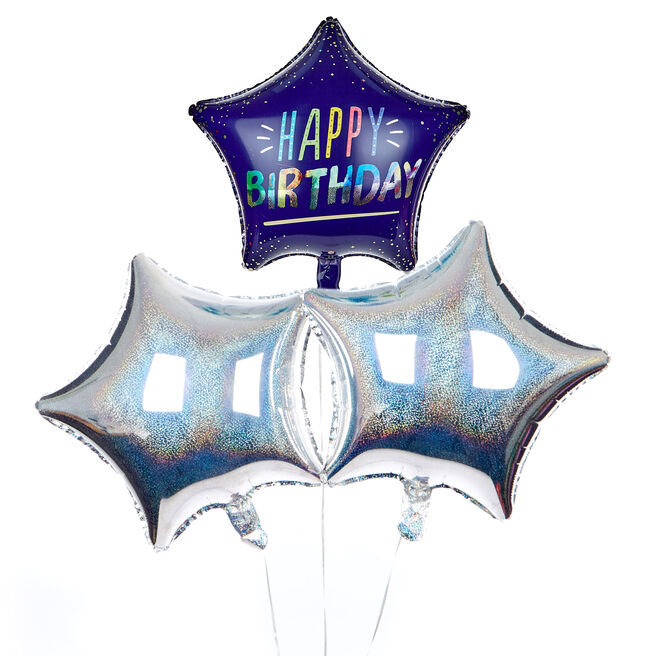 Star Happy Birthday Balloon Bouquet - The Perfect Gift!