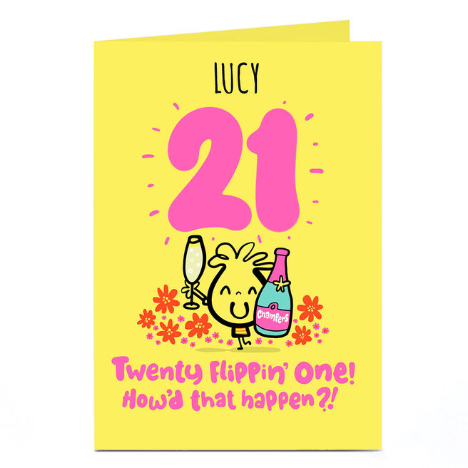 Personalised Fruitloops 21st Birthday Card - How'd That Happen?!