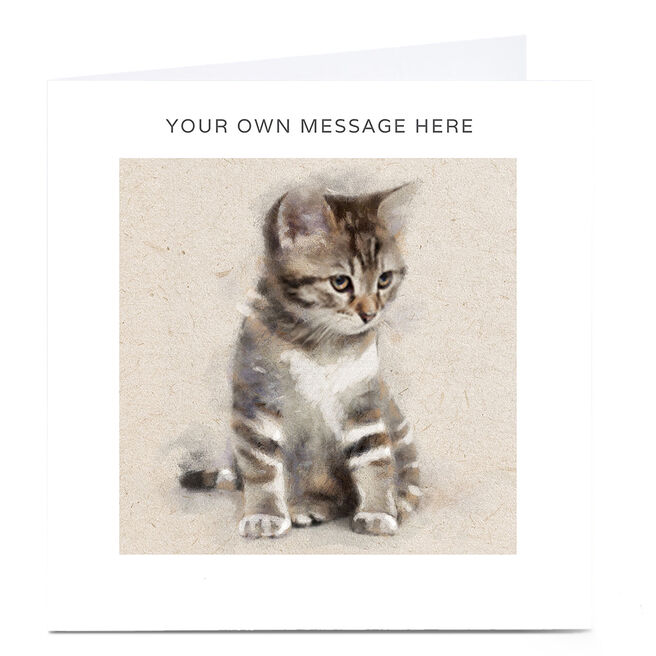 Personalised Card - Kitten