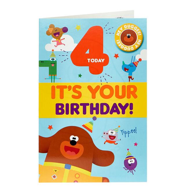 Hey Duggee 4th Birthday Card