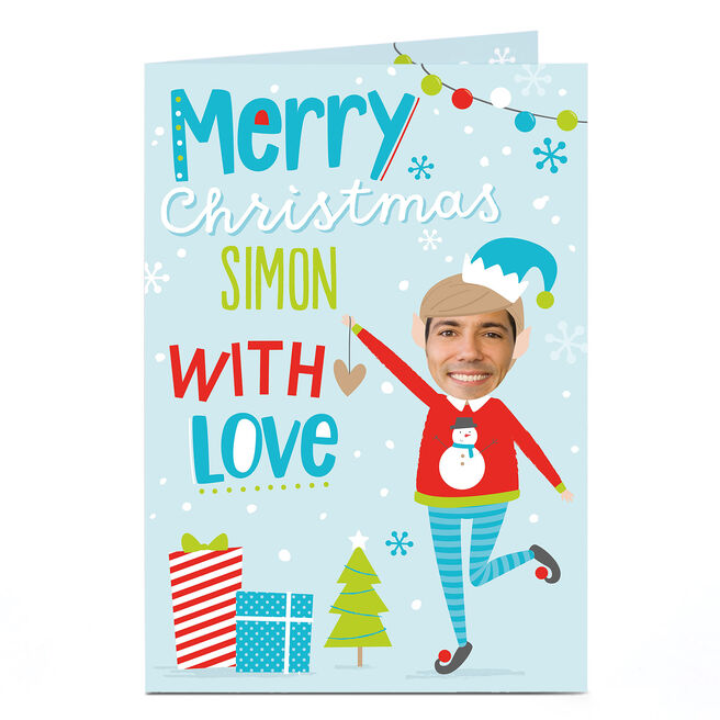Photo Christmas Card - Boy Elf