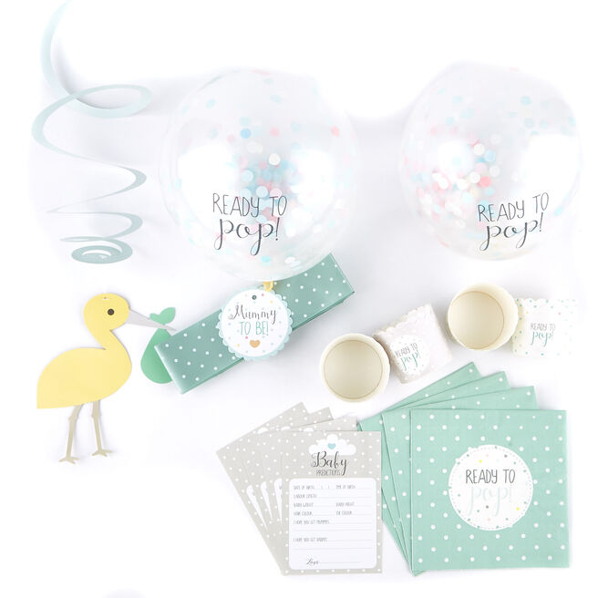 Unisex Baby Shower Tableware & Decoration Bundle - 43 Pieces