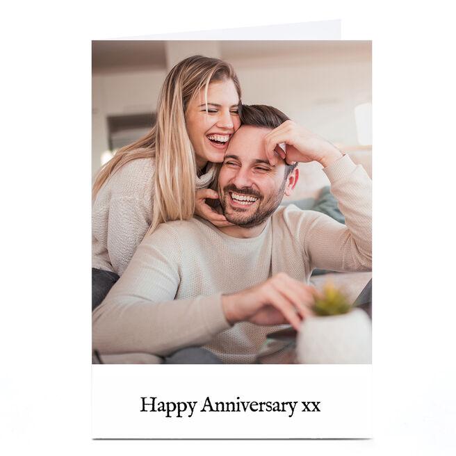 Photo Anniversary Card - Photo Any Message