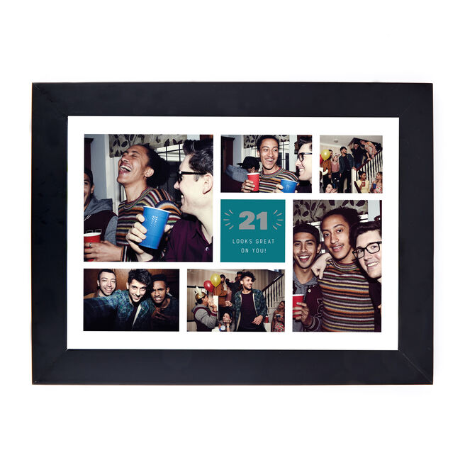 Personalised 21st Birthday Photo Print - Looks Great On You (Landscape)